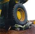 Haul truck backed over a parked vehicle.jpg