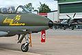 Hawker Hunter and VS Spitfire XVI at Malmen 2012 (8406074531).jpg