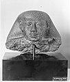 Head from a Block Statue of Mentuhotep, lower part in the University of Tubingen museum MET 2859.jpg