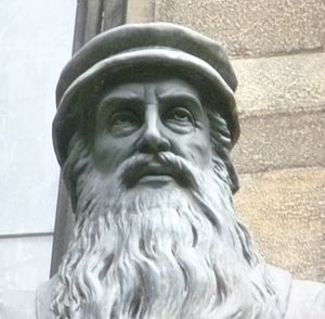 Siege of Leith - Head of the statue of John Knox, New College, Edinburgh