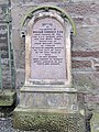 Headstone by the wall - geograph.org.uk - 1801370.jpg