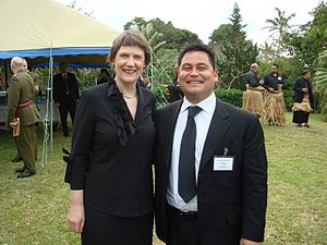 Charles Chauvel (politician) - With former New Zealand Prime Minister Helen Clark