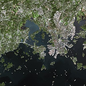 Helsinki - Parts of Helsinki and Espoo seen from the SPOT satellite
