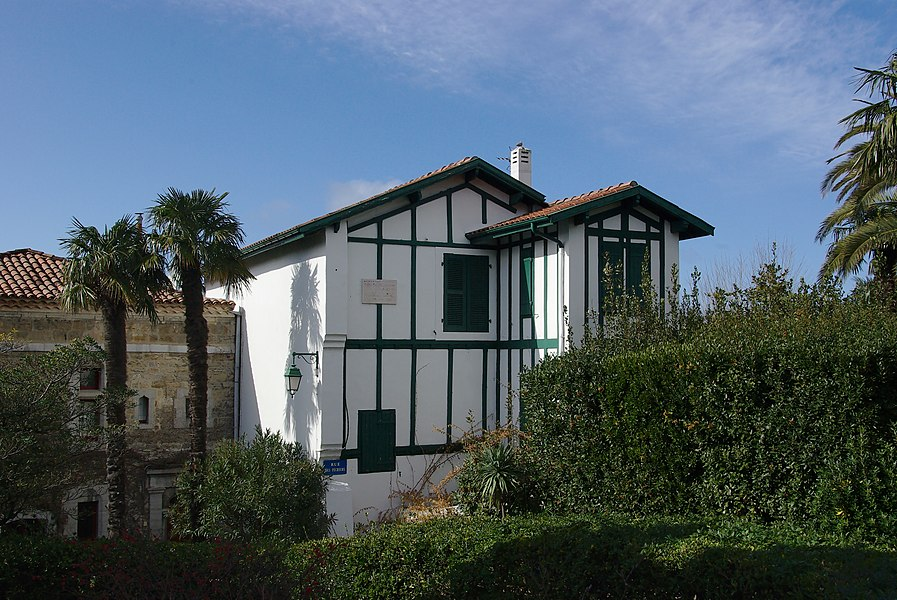 Pierre Loti's villa, where the writer died in 1923, Hendaye, France.