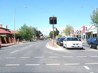 Mile End, South Australia - Henley Beach Road, looking east into the city