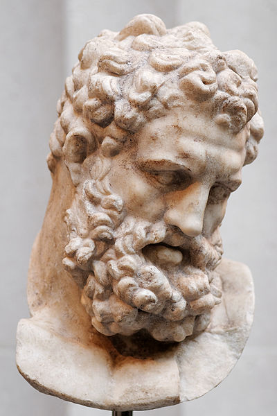 Marble Statue: Head of Heracles