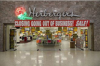 Herberger's - An open Herberger's in Rapid City, South Dakota and its going out of business sale a few months later.
