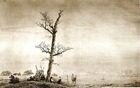 Caspar David Friedrich: Herbstabend am See, 1805 (Quelle: Wikimedia)