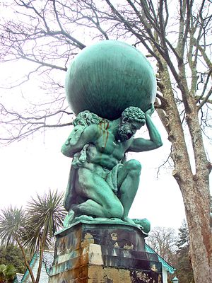 "William Brodie (sculptor) - ""Hercules"", a bronze statue by William Brodie, in Portmeirion"
