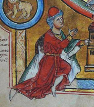 Hermann I, Landgrave of Thuringia - Picture of Herman I in the Elisabethpsalter