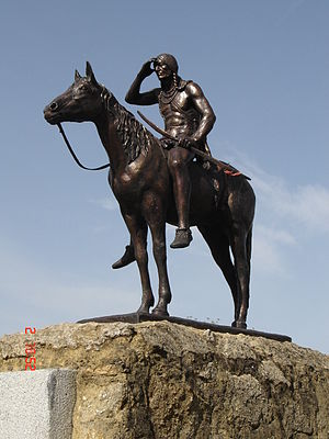 The Scout (Kansas City, Missouri statue) - Half-size replica of The Scout in Seville, Spain.