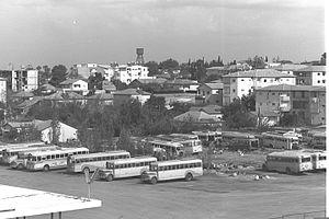 Herzliya - Herzliya in 1964, with the Central Bus Station in the foreground