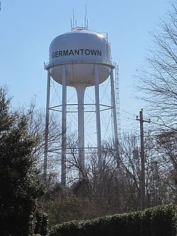 Germantown's water tower