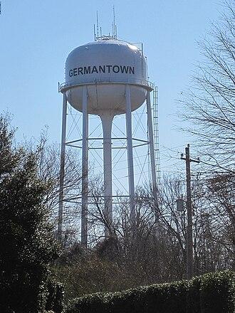 Germantown, Tennessee - Germantown's water tower