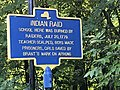 Historic marker on Neversink Drive re Indian raid 1779 re school attack.jpg