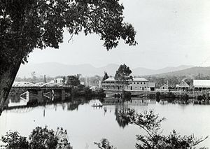 Huonville - A view of Huonville, sometime between 1900-1949