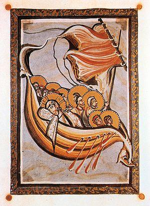 Calming the storm, Hitda-Codex,
