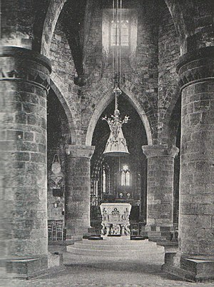 The Holy Sepulchre, Northampton - Holy Sepulchre interior from Rev. Cox and Rev. Serjeantson History of the Church of the Holy Sepulchre Northampton (1897)