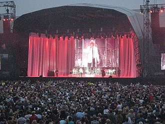 Home Park - Rod Stewart performing at Home Park in 2009, his only UK tour date that year.