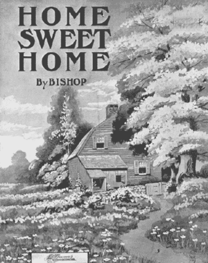 "Cover of sheet music for ""Home! Sweet Hom..."