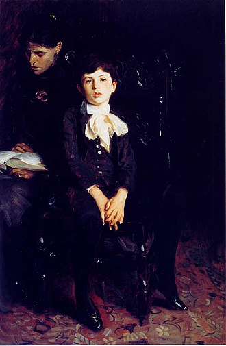 Augustus Saint-Gaudens - Portrait of Augustus's wife Augusta and their son, Homer Saint-Gaudens, by John Singer Sargent, 1890.