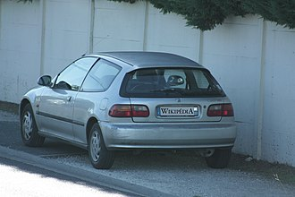Honda Civic (fifth generation) - A French Civic hatchback with D13B2 motor (EG3)