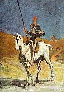 Don Chisciotte e Ronzinante, dipinto di Honoré Daumier