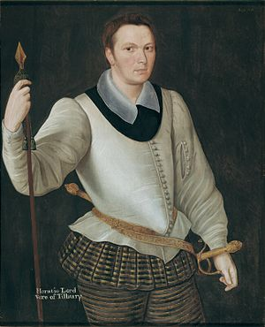 Horace Vere, 1st Baron Vere of Tilbury - Horace Vere in 1594.