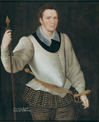 Horace Vere, 1st Baron Vere of Tilbury - Horace Vere in 1594.
