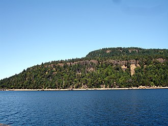 Hornby Island - Hornby Island as seen from the Hornby-Denman ferry