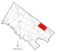 Location of Horsham Township in Montgomery County