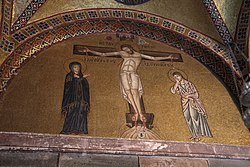 Hosios Loukas (narthex) - East wall, left (Crucifixion) 01.jpg