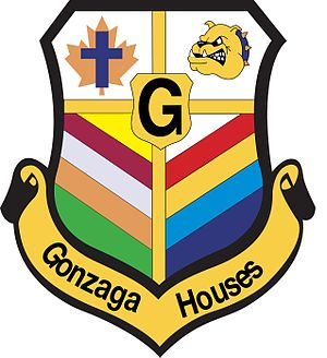 St. Aloysius Gonzaga Secondary School - The Gonzaga House Colours Crest