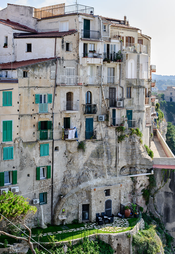 File House In Tropea Calabria Italy July 25th 2013
