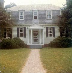 House where Cornwallis surrendered to Washington