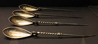 Spoon - Roman spoons from the Hoxne hoard