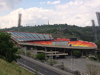 FC Ararat Yerevan - Hrazdan Stadium, the home ground of Ararat Yerevan between 1971 and 2015