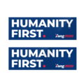 Humanity first bumper stickers.png