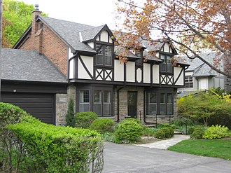 Etobicoke - A residence in Humber Valley Village neighbourhood. Development in the Humber Valley Village began in the early 20th century.