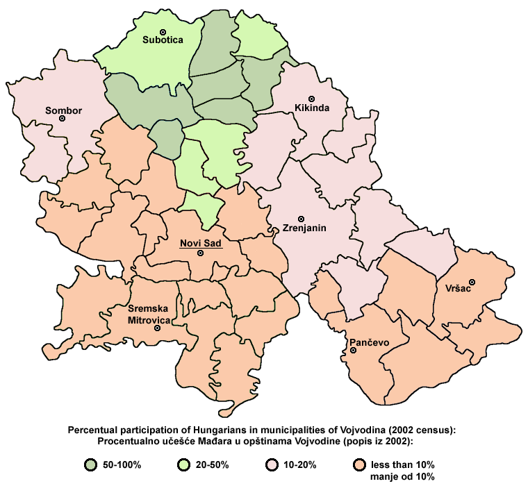 Hungarians in vojvodina2002