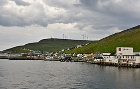 Hurtigruten coming into port at Havoysund, northen Norway (9).jpg