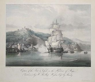 Maurice Berkeley, 1st Baron FitzHardinge - The fifth-rate HMS ''Hydra'' in which Berkeley served as a junior officer