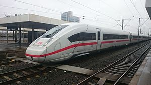 ICE 4 (Deutsche Bahn) - Front of an ICE4 with 12 cars