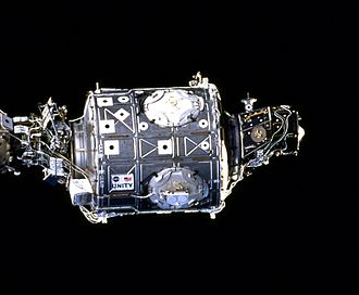 Unity as seen by Space Shuttle Endeavour during STS-88 ISS Unity module.jpg