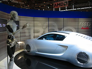 3D printing - The Audi RSQ was made with rapid prototyping industrial KUKA robots.