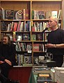 Iain Sinclair speaking at Housmans book shop in London 2013.jpg
