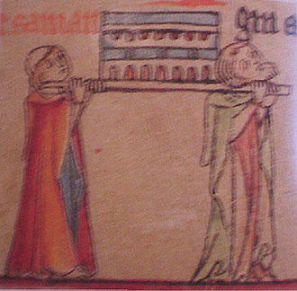 Guðmundur Arason - Men carrying a holy casket like that which contained Guðmundur's remains