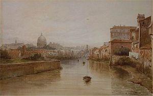 Lungotevere - Image: Il Tevere Da Ponte Sisto By Roesler Franz
