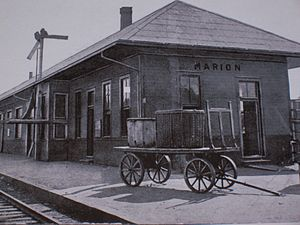 Marion, Kentucky - Illinois Central Railroad depot, c. 1890