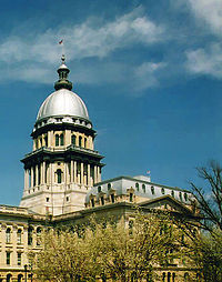 The dome on the Illinois State Capitol in Springfield is taller than the dome on the United States Capitol.